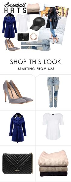 """""""Top Hat: Baseball Cap Style"""" by crystal-imz on Polyvore featuring Gianvito Rossi, Pilot, Topshop, GUESS by Marciano, IRIS VON ARNIM and ShoeDazzle"""