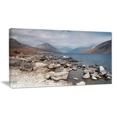 """DesignArt Rocky Wast Water in Lake District Photographic Print on Wrapped Canvas Size: 12"""" H x 20"""" W x 1"""" D"""