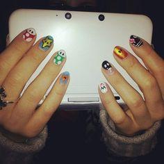 Mario nails #NintendoNails