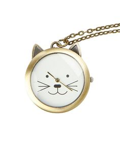Hottopic lovesick cat face clock long necklace birthday wish lovesick cat face clock long necklace from hot topic aloadofball Choice Image