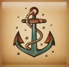 Old School Anker Tattoo - Tattoo Anchor Tattoo Design, Anchor Tattoos, Arrow Tattoos, Foot Tattoos, Sleeve Tattoos, Anker Tattoo, Trendy Tattoos, New Tattoos, Ancora Old School