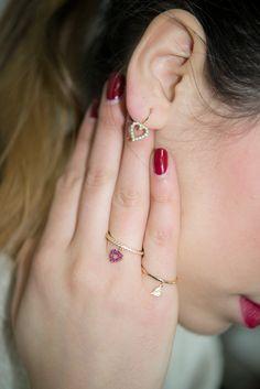 Χρυσά κοσμήματα με καρδούλες!!