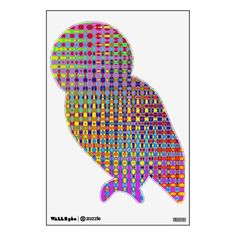 Psychedelia Owl Wall Decal