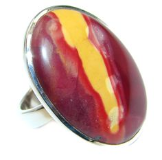 $57.80 Gorgeous+AAA+Mookaite+Jasper++Sterling+Silver+Ring+s.+9 at www.SilverRushStyle.com #ring #handmade #jewelry #silver #mookaite