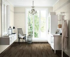Lovely free floating shelf with mirror Bathroom Inspiration, Bathroom Ideas, Powder Room, Floating Shelves, Dining Bench, Shelving, Flooring, Mirror, Interior
