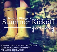 $50 therapy bloggers giveaway contest.  Comment on the blog post and then enter to win! Check out some sidewalk chalk games while you are there.