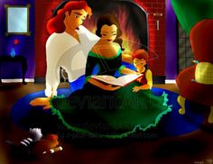 Belle, prince Adam, and their child :)