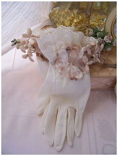 Vintage Ruffly Laced Gloves | Flickr - Photo Sharing!