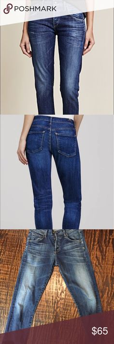 Citizens of Humanity Emerson cropped boyfriend COH Emerson slim boyfriend cropped jeans in blue ridge.  EUC, button fly, super comfortable Citizens Of Humanity Jeans