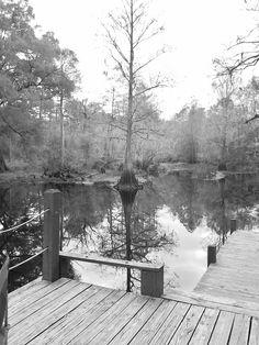 Fishing hole close to Dade City Florida... I love Black and White pics