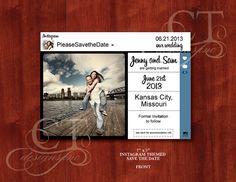 Instagram Themed Save the Date  Printable DIY by CTDESIGNSWED, $50.00 Kansas Missouri, Missouri City, Kansas City, Wedding Save The Dates, Our Wedding, Bat Mitzvah, Getting Married, Dating, Printables