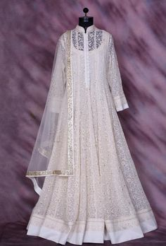 White Designer Party Wear Dress