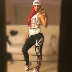 Love her red hair too. Natalie Eva Marie, Nxt Divas, Wwe Wallpaper, American Actress, Her Style, Her Hair, Beauty Women, Cool Girl, Sporty