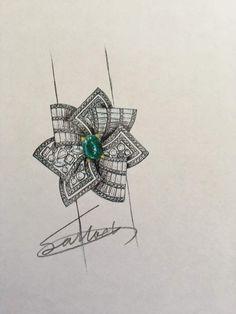 Ring Sketch, Jewellery Sketches, Jewelry Sketch, Fancy Jewellery, Diamond Jewellery, Jewelry Design Drawing, Jewelry Illustration, Hand Jewelry, Tiffany Jewelry