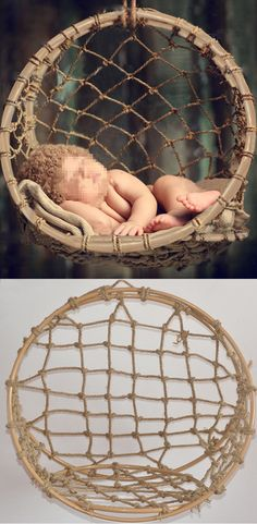 New Creative Photography Props Handmade Woven Basket for Newborn Baby D 60 | eBay