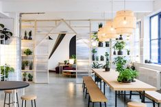 A Look Inside IKEA's Space 10 Innovation Lab in Copenhagen: IKEA explores the future of urban living. Cafe Interior, Office Interior Design, Office Interiors, Comedor Office, Green Design, Design Ikea, Ikea New, Startup Office, Interior Design Offices