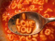 """""""I Love You"""" letter soup Aesthetic Photo, Aesthetic Pictures, Cute Messages, Artist Quotes, Alphabet Soup, Orange Aesthetic, Grunge Photography, Photo Wall Collage, Food Humor"""