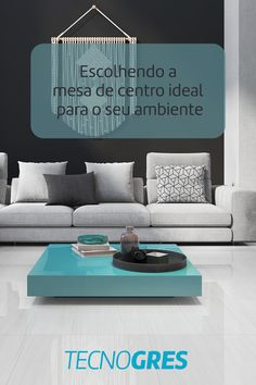 Para escolher a mesa ideal, siga os seguintes passos: 1 - Verifique as medidas de sua sala, 2 - Certifique-se da altura que ela deve ter, 3 - Visualize qual é o formato ideal, 4 - Observe os materiais predominante no restante da mobília e replique, 5 - Pense na harmonia das cores e pronto! Agora é só sair em busca do seu modelo ideal. #mesa #mesadecentro #decoracao #dica #tecnogres #grupofragnani 1, Table, Furniture, Home Decor, Go Outside, Environment, Model, Colors, Centerpieces
