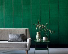 """New wallpaper collection """"Nomades"""". Stripe effect of handcrafted weaving of silk and linen. Vinyl wallpaper on an unwoven backing. www.elitis.fr/..."""
