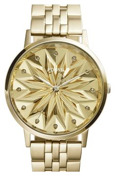 http://www.fashiontrendstoday.com/category/fossil-watch-women/ Fossil 'Vintage Muse' Round Bracelet Watch, 40mm