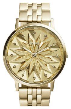 Fossil 'Vintage Muse' Round Bracelet Watch,40mm