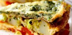 Prepara un rico omelette de vegetales ¡Delicioso! Tips Belleza, Quiche, Breakfast, Food, Skin Care, Vegetable Recipes, Healthy, Cook, Morning Coffee