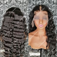 28 inches long crimp lace frontal wig.