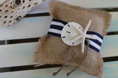 5x5 Nautical stiped ring pillow $16.00