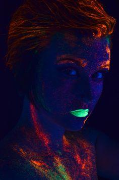 glow in the dark makeup | Tumblr