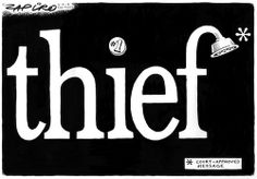 Zapiro excelling in subtlety: Calling Jacob Zuma a THIEF