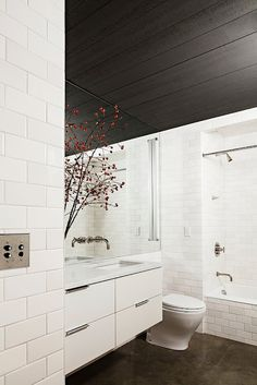 Black ceilings to exaggerate wall heights