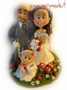 Celebra con le persone più speciali il giorno del tuo #matrimonio con un #CakeTopper #personalizzato www.marymade.it!  Celebrate your #wedding day with your very own www.marymade.it #Cake #Topper creation!