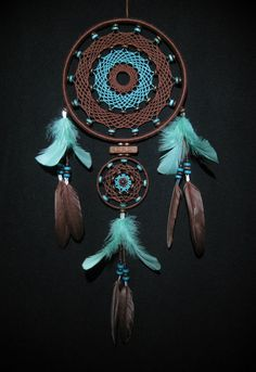 Turquoise & brown | dream catcher