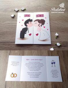 csókolózós pár esküvői meghívó Creative Wedding Invitations, Wedding Invitation Design, Words For Girlfriend, Personalized Engagement Gifts, Family Love, Simple Weddings, Diy Cards, Wedding Cards, Projects To Try