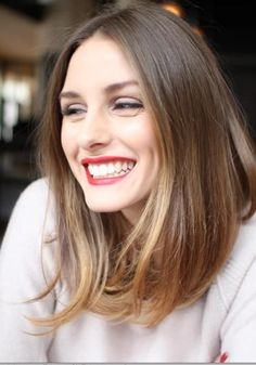 49 Ideas Hair Color Ideas For Brunettes Lob Olivia Palermo For 2019 Decent Hairstyle, Lob Hairstyle, Long Bob Hairstyles, Pretty Hairstyles, Hairstyle Ideas, Olivia Palermo Hair, Parting Hair, Sombre Hair, Langer Bob
