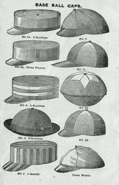 19th Century Baseball Caps