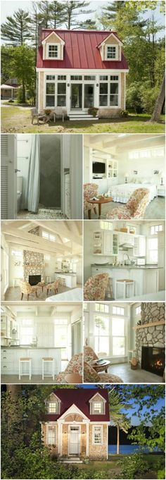 How Does a Tiny House by the Sea Sound? Come See! {Tiny house tour} - Creative Cottages, LLC out of Maine builds some of the most charming tiny houses we've ever seen! One of the adorable homes is the Oceanside Retreat. It's only 411 square feet but it has absolutely everything that you need plus gobs of charm and character!