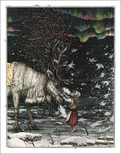 The Snow Queen by Hans Christian Andersen.  Illustrated by Boris Diodorov.