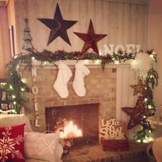 Fireplace decor and mantle