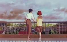"""Strange, its as if I have known you for a long time."" Whisper Of The Heart (1995). Hayao Miyazaki"