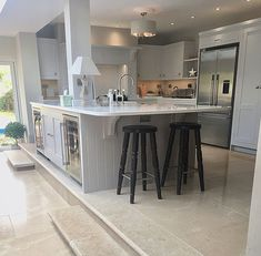 This kitchen belongs to Danni over Pebble Grey, Pebble Stone, Dulux Polished Pebble, Dulux Heritage, House Paint Interior, Interior Doors, Hale House, Dulux Paint, Kitchen Paint Colors