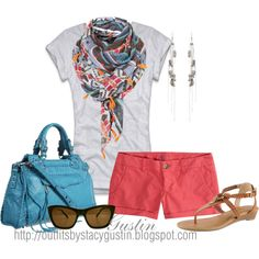 summer color, created by stacy-gustin on Polyvore