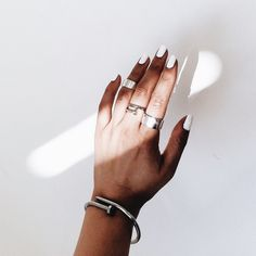 silver bracelet and ring