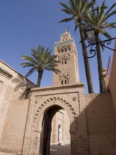 The Koutoubia Mosque (Booksellers' Mosque), the Landmark of Marrakech, Morocco