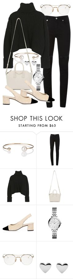 """""""Untitled #20391"""" by florencia95 ❤ liked on Polyvore featuring Letters By Zoe, McQ by Alexander McQueen, Givenchy, River Island, FOSSIL and Thom Browne"""