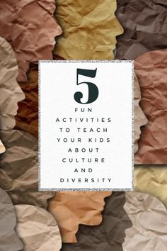 Teach your kids about culture and diversity with these 5 fun activities! Culture Activities, Diversity Activities, Rainy Day Activities, World Geography, Student Success, Indoor Games, What Inspires You, Elementary Education, Parenting Quotes