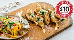 Grilled Chicken Skewers with Mango-Lime Salad