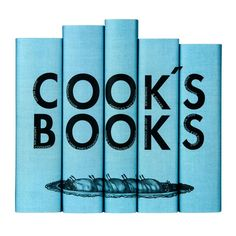 Cook's Books Set in blue from Juniper Books