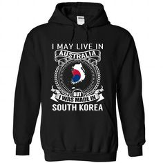 I May Live in Australia But I Was Made in South Korea ( - #tshirt outfit #animal hoodie. MORE ITEMS => https://www.sunfrog.com/States/I-May-Live-in-Australia-But-I-Was-Made-in-South-Korea-V3-wvlpkdmhiw-Black-Hoodie.html?68278