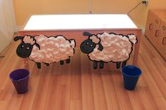 The sheep shearing sensory activity is perfect for toddlers and preschoolers to learn have fun, keep busy and engage in sensory activity. This craft takes under 10 minutes to make! Circle Time Activities, Animal Activities, Sensory Activities, Preschool Activities, Baby Sensory, Farm Animals Preschool, Farm Animal Crafts, Farm Crafts, Preschool Farm Theme